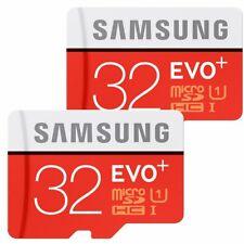 2x 32GB Samsung EVO plus 80MB/s Class 10 UHS-I SDHC MicroSD Karte Speicherkart