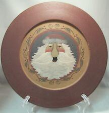 "Plate Santa 9 3/4"" Round ~ Country ~ Primitive ~ Farmhouse Decor"