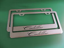 """(2)"""" CADILLAC """" Stainless Steel license plate frame"""