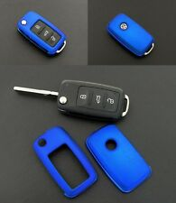 VW SEAT SKODA Remote Flip Key Cover Case Skin Shell Cap Fob Blue Protection