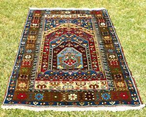 High Quality Turkish Anatolia Carpet Vintage Wool Traditional Oriental Rug 4x7ft