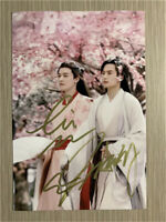 Signed 山河令 WORD OF HONOR Zhang Zhehan Gong Jun autographed photo 张哲瀚 龚俊 10*15CM