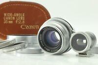 【 Near MINT- in CASE 】 Canon 35mm f/2.8 Lens L39 LTM + Finder , Hood from JAPAN