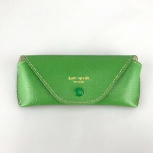 Kate Spade New York Sunglasses Case Green Faux Leather SM Small Size Eyewear