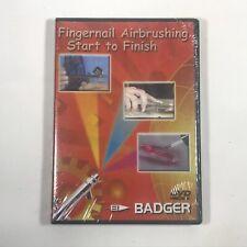 BADGER BD-105 Fingernail Airbrush Technique Start To Finish DVD - NEW