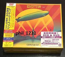new Led Zeppelin Celebration Day 2DVD 2CD Japan DELUXE edition WPZR-30458 OBI
