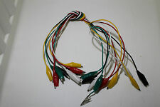 50cm Crocodile Test Lead with 25mm Clips Set 10 Leads 5 colours