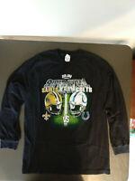 2010 Super Bowl XLIV Saints vs. Colts Long Sleeve T Shirt Size Men's Large