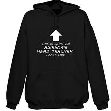 BEST HEAD TEACHER PERSONALISED HOODIE AWESOME GIFT XMAS TERM PRESENT THANK TOU