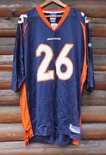 Denver Broncos Reebok NFL Jersey Men 2XL XXL Clinton Portis Orange Blue White +
