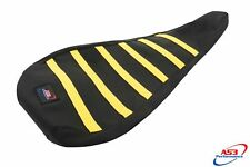 AS3 PERFORMANCE RIBBED GRIPPER SEAT COVER to fit SUZUKI LTZ 400 2003-2008 YELLOW