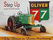 Metal Plate Advertising Vintage USA Tractor Oliver 77 - 41 x 32 CM