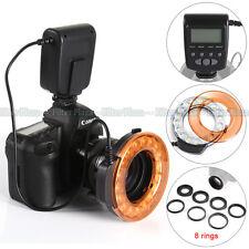 MK FC-110 LED Macro Flash Light+8 Ring For Nikon D7100 D7200 D750 D90 D5600 D810