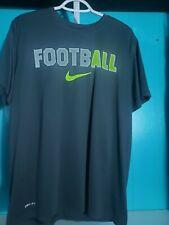 "Mens Large Nike ""The Nike Tee"" Football Dri Fit Euc Gray Short Sleeve"