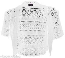 Girls Kids Short Sleeve Bolero Crop Top Knitted Shrug Cardigan 5-13 years