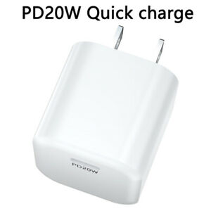 For iPhone 13 Pro/12/11 Pro Max/XR/iPad Fast Charger 20W PD Power Adapter Type-C