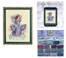 MIRABILIA Cross Stitch PATTERN & EMBELLISHMENT PACK October Opal Fairy MD132