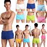 Men's Comfy Cotton Underwear Boxer Briefs Shorts Pants Bulge Pouch Underpants