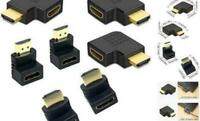 4K HDMI Adapter Right + Left + 90° Angle Male to Female Type Port Angled adaptor