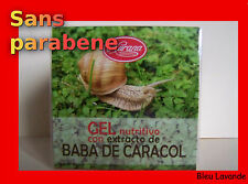 BAVE D'ESCARGOT : GEL NUTRITIF ANTI-RIDE REVITALISANT. Rides, acné, teint terne