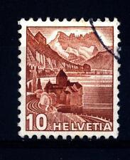 SWITZERLAND - SVIZZERA - 1943 - Castello di Chillon. Tipo del 1936 in colore cam