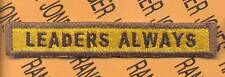 """755th Armored """"LEADERS ALWAYS"""" TANK TAB patch"""