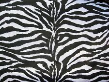 "BLACK + WHITE ZEBRA STRIPES AFRICA WILD ANIMAL BLEND SEW CRAFT 60"" FABRIC BTHY#"