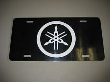 Yamaha License Plate/ Black Tag W/ White letters