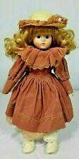 """VICTORIAN PORCELAIN 17""""VINTAGE DOLL.YOUNG COLLECTORS IDEAL COLLECTION STARTER"""