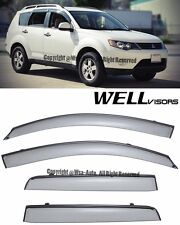For 07-13 Mitsubishi Outlander WellVisors Side Window Visors Rain Deflectors