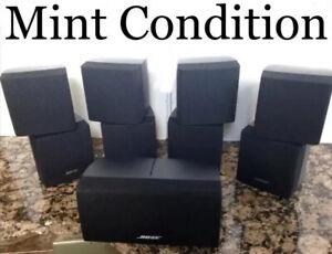 5 Bose Mint Double Cube Speakers Black Includes Center DoubleShot/Acoustimass.