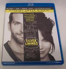 Silver Linings Playbook DVD + Blu-ray Movie VIDEO Cooper Jennifer Lawrence