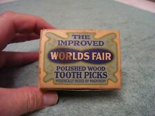 Vintage Forster Toothpicks 3200ct White Birch Round Square Center Wood USA NEW
