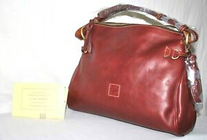 Dooney & Bourke Medium Florentine Leather Zip Hobo, Color Bordeaux  A390010 $355