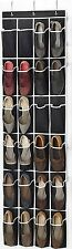 Zober Over the Door Shoe Organizer - 24 Breathable Pockets,  64in x 18in
