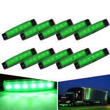 5PCS Green 6-LED Clearance Side Marker Trailer Light Van Waterproof Sealed 12V
