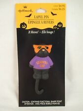 Hallmark Halloween Scaredy Cat Lapel Pin with card **