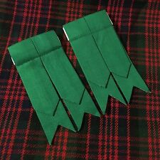 CC Men's Scottish Kilt Sock Flashes Plain Green/Kilt Hose Flashes/kilt Flashes