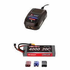 Venom 20C 2S 4000mAh 7.4V LiPo Battery with Sport Charger Combo