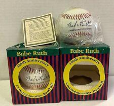 Babe Ruth 100th Anniversary Commemorative Baseball Lot of 2 NIB