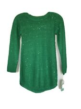 Copper Key Girl's Green Sequin Sweater Dress Christmas