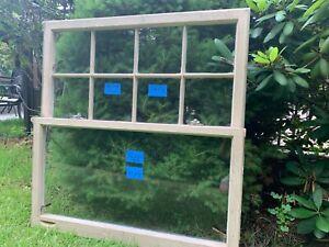 2 -36 x 20 Vintage Window sash old Andersen 8 pane Top & Bottom From 1958 Beige