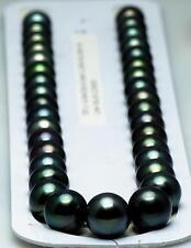 "huge AAA + 18""11-12mm natural tahitian black pearl necklace"