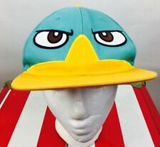 Vintage Phineas Ferb SnapBack Hat Baseball Cartoon Disney Bird Streetwear 90s