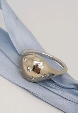 Pandora 18k White Gold Large 0.12ct Diamond Love Pod Ring Lovepod 970121WD 56