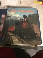 VINTAGE RAILROAD BOOK - ALL ABOARD - THE TRAINS THAT BUILT AMERICA - MARY ELTING