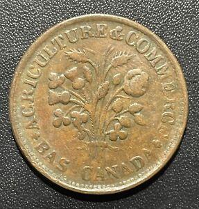 Canada (Montreal) 1838 Bouquet Sou Token: Breton #674