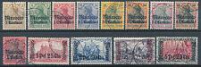 DP Marokko Aufdruckserie 1905 Michel 21-33 teils geprüft (S14264)