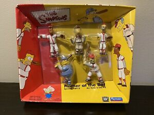 The Simpsons Playmates Figure 5 Pack Figures - Homer at the Bat Set 2002 Sealed