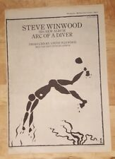 Steve Winwood Arc of a diver 1980 press advert Full page 37 x 27 cm poster